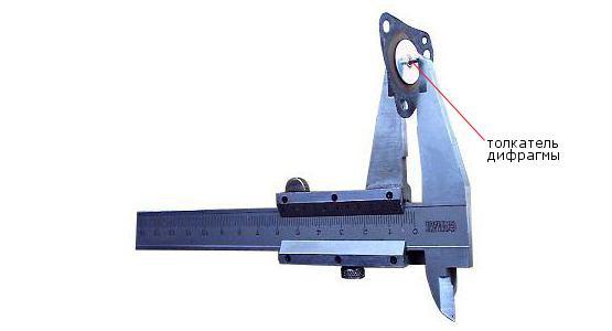 измерение высоты толкателя экономайзера 2108