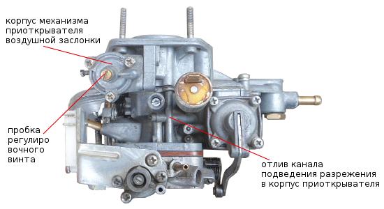 канал и корпус пускового устройства 2105, 2107