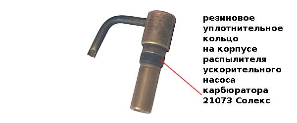 уплотнительное кольцо распылителя УН 21073