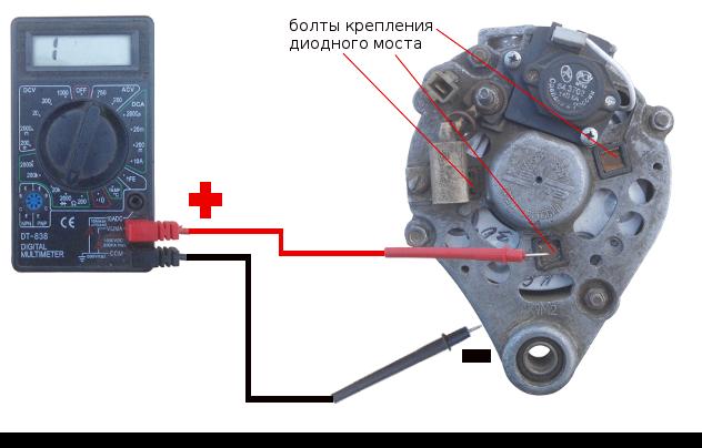 проверка отрицательных диодов на кз мультиметром