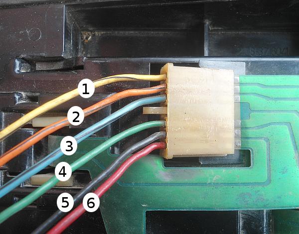 провода заднего фонаря 2108, 2109, 21099