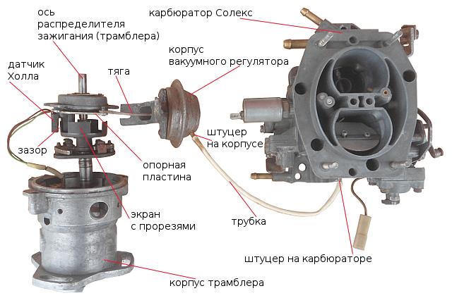 Ваз 2109 схема вакуума