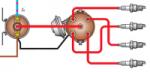 схема системы зажигания 2105, 2107