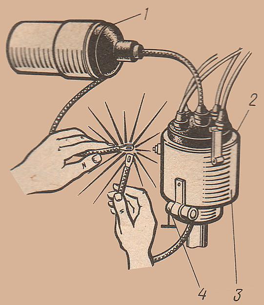 проверить конденсатор трамблера