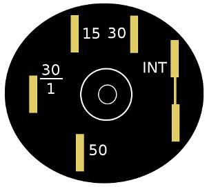 контакты выключателя зажигания 2105, 2107