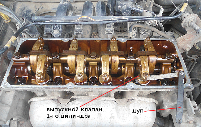 измерение зазора клапана k7j