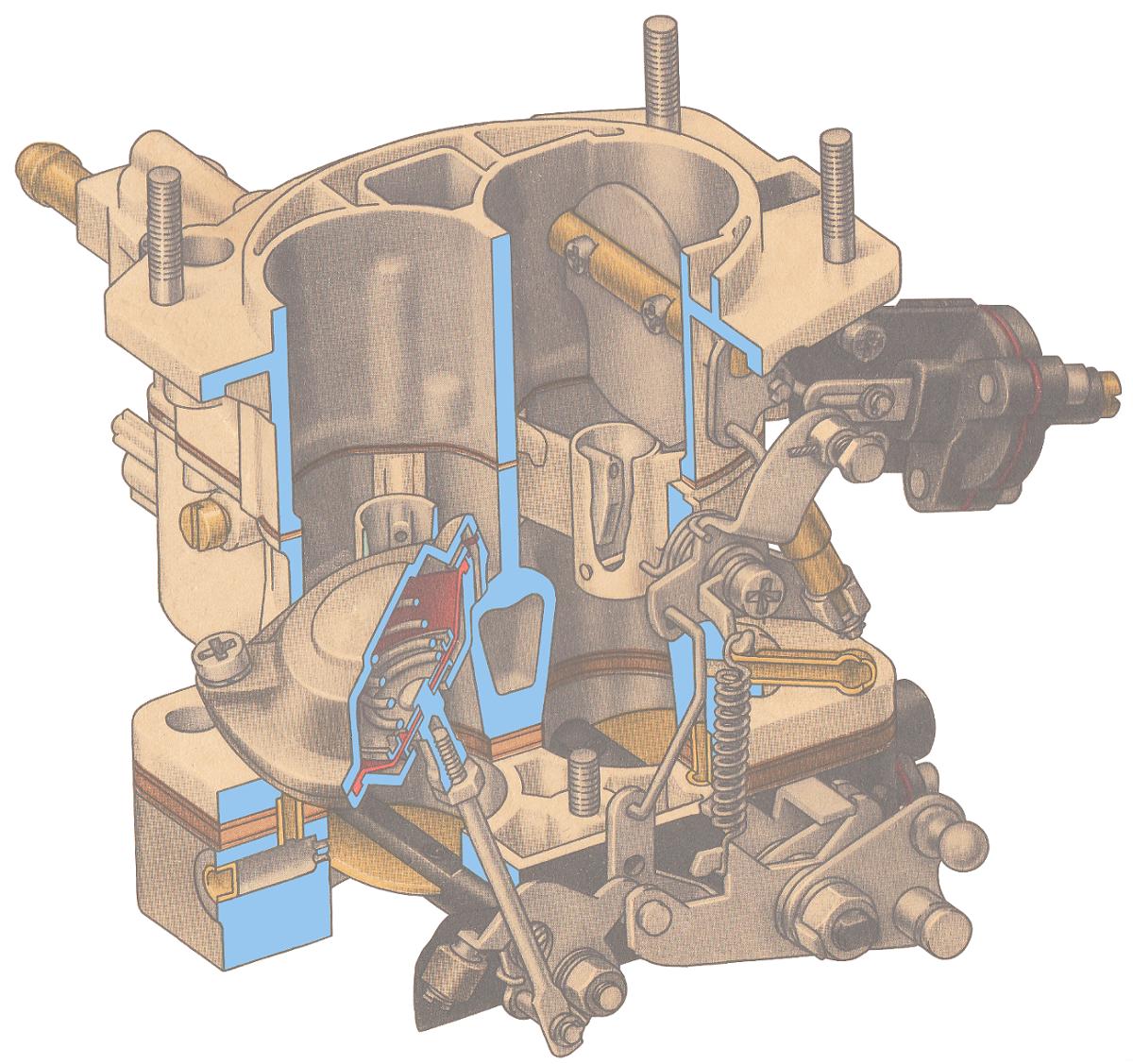 схема устройство карбюратора Озон