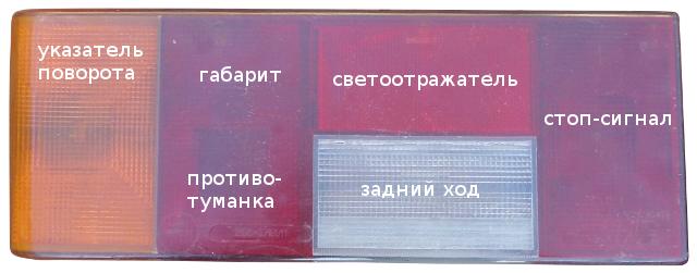 задние фонари 2108, 2109