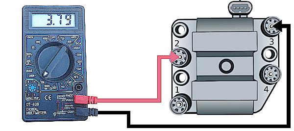 проверка вторичной обмотки модуля зажигания 2-3