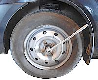 замена подшипника ступицы переднего колеса Рено Логан