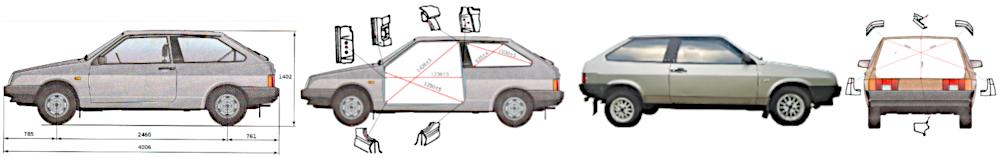восстанавливаем кузов ВАЗ 21083