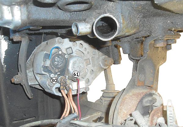 Подключаем провода к генератору на автомобилях ВАЗ 2108, 2109, 21099