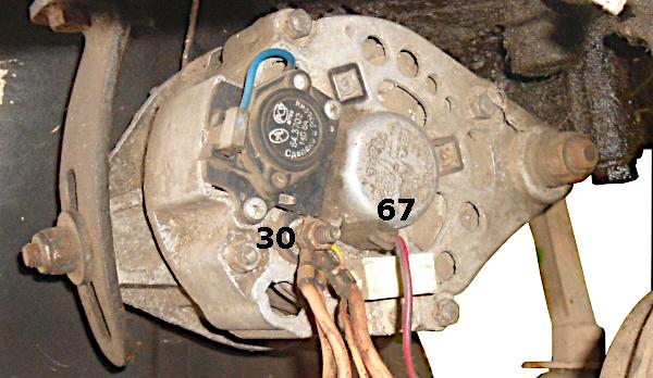 провода к генератору
