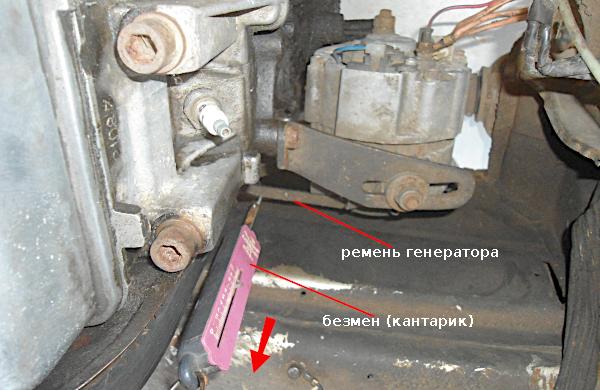 проверка натяжения ремня генератора 37.3701
