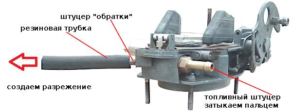 замена игольчатого клапана 21073 Солекс