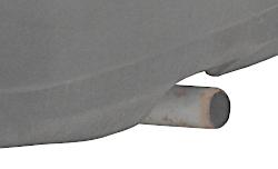 чернеет выхлопная труба глушителя