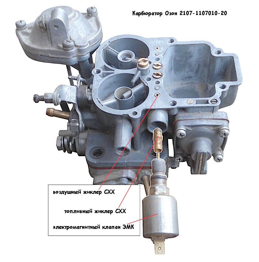 топливный и воздушный жиклеры Озон 2107-1107010-20