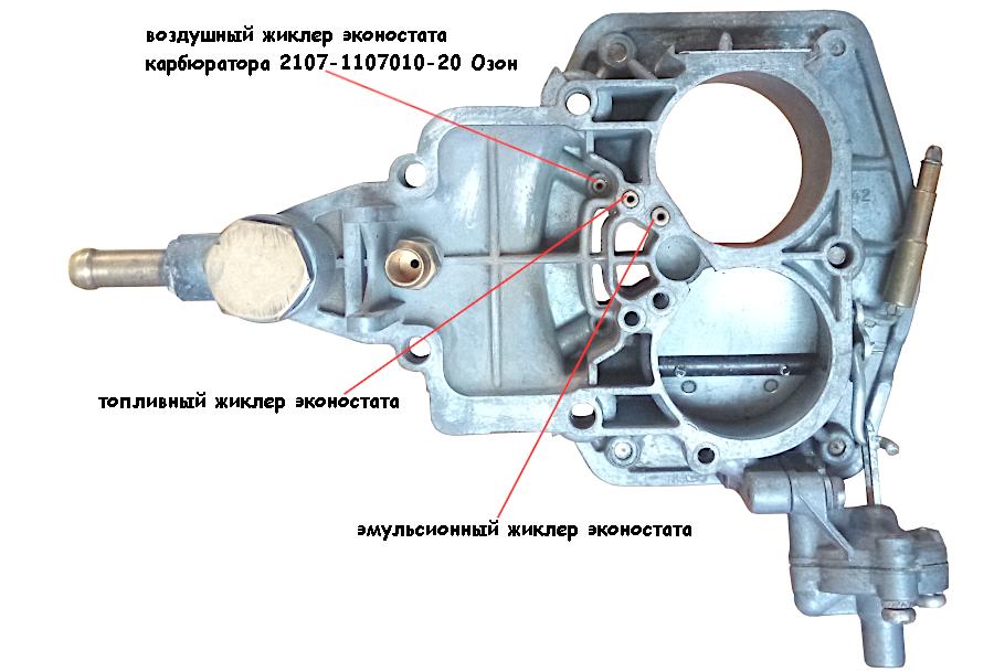 жиклеры эконостата карбюратора 2107-1107010-20 Озон