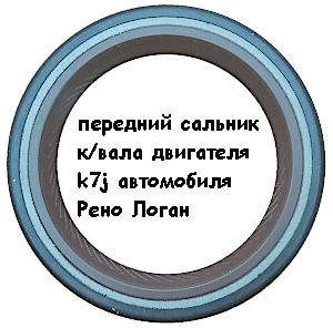 передний сальник коленчатого вала двигателя k7j автомобиля Рено Логан