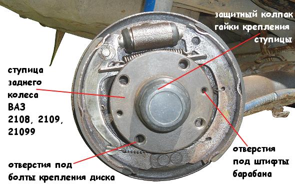 ступица заднего колеса ВАЗ 2108, 2109, 21099