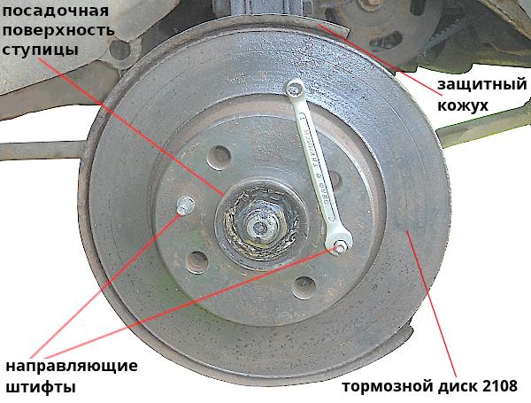 тормозной диск 2108