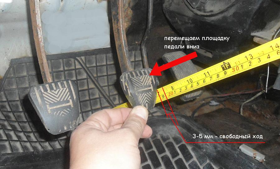 измеряем расстояние до нажатой педали тормоза