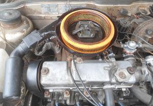 забит воздушный фильтр двигателя