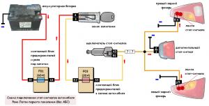 схема подключения стоп-сигналов Рено Логан 1
