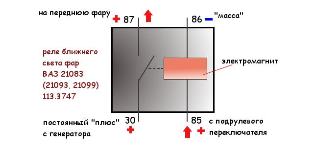 схема реле 113.3747