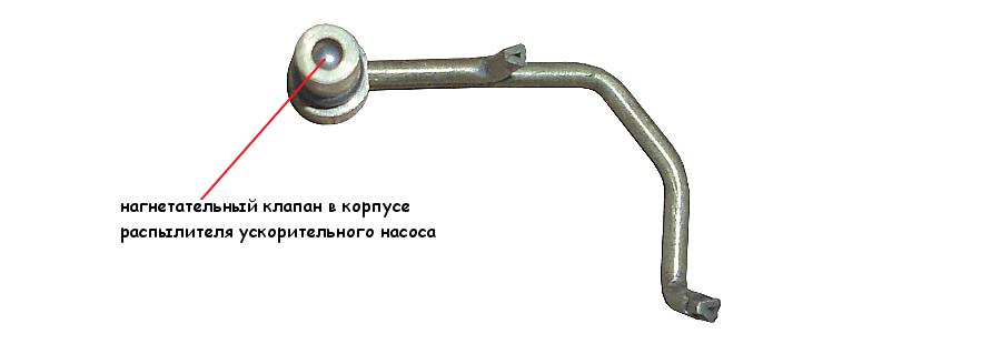нагнетательный клапан ускорительного насоса карбюратора Солекс 21083