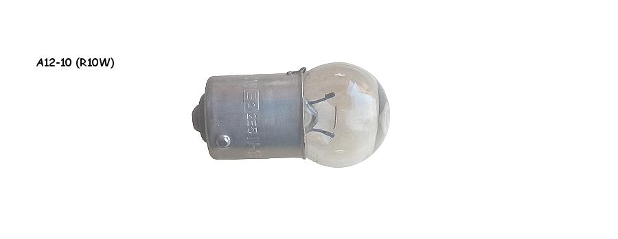 Лампа габарита А12-10 (R10W)