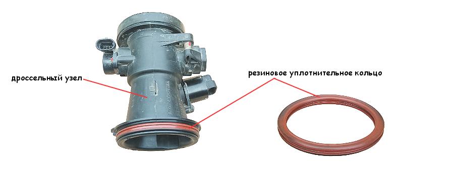 Замена уплотнительного кольца дроссельного узла на Логане