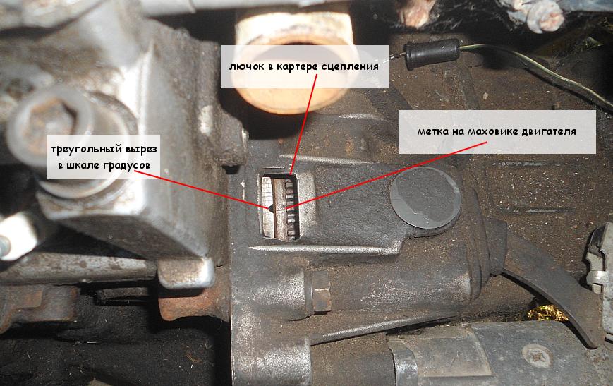 Как найти метку на маховике двигателя автомобиля