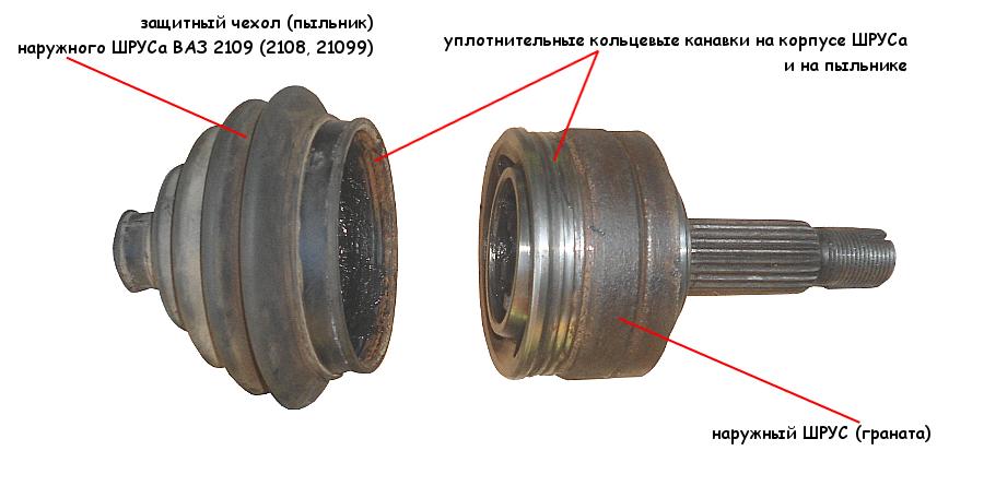 Замена пыльника наружного ШРУСа ВАЗ 2108, 2109, 21099