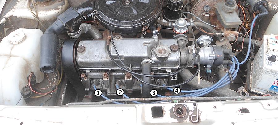 Порядок нумерации цилиндров двигателя 21083 (21081, 2108)