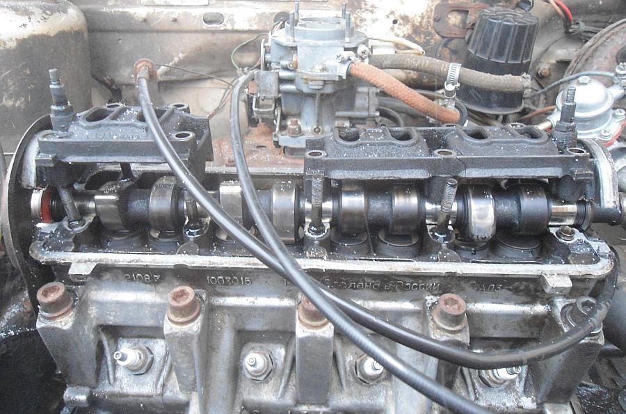 Зажаты клапана двигателя (маленькие зазоры клапанов)
