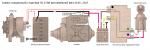 Схема соединений стартера 35.3708 автомобилей ВАЗ 2105, 2107
