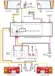 Схемы электрических соединений габаритных огней (наружного освещения) автомобилей ВАЗ 2108, 2109, 21099