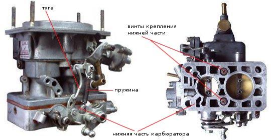 заслонок) карбюратора 2105