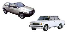 автомобили ВАЗ 2108, 2105