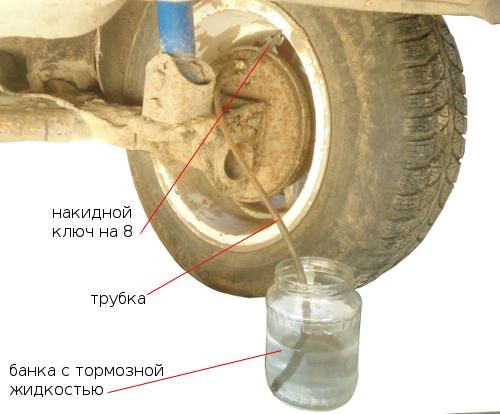 прокачка тормозов ваз 2108