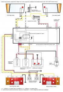 схема габариты панель 2108
